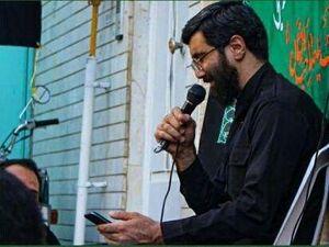 عکس/ روضه خوانی سیدرضا نریمانی مقابل منزل شهید علی قوچانی در اصفهان - کراپشده