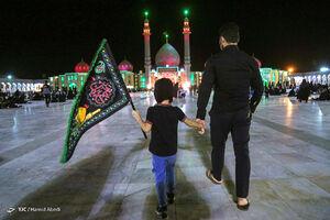 عکس/ مراسم عزاداری شب سوم محرم در مسجد مقدس جمکران