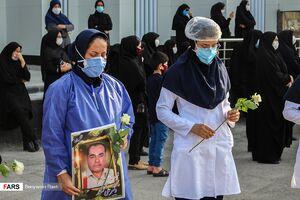عکس/ تشییع نخستین شهید مدافع سلامت لامرد