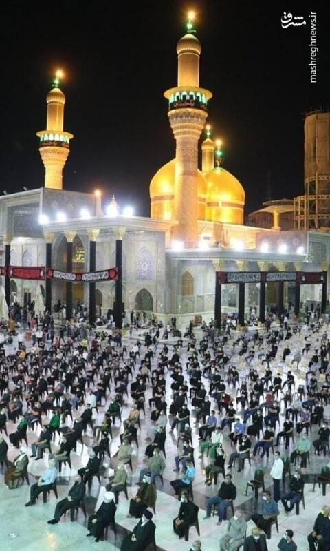 2891437 - تصویری از حال و هوا محرم در حرم مطهر امامین کاظمین(ع) +عکس