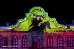 عکس/ اجرای نورپردازی سه بعدی روایتهای عاشورایی
