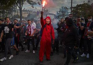 اغتشاش پاریسی ها در پی ناکامی PSG +عکس