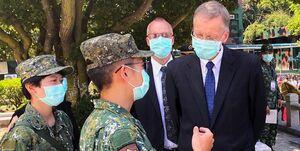 حضور نماینده آمریکا در تایوان در یک مراسم ضد چینی