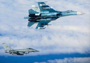رهگیری دو هواپیمای ناتو بر فراز دریای بالتیک توسط سوخو-۲۷ روسیه