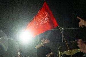 باران رحمت الهی بر سر عزاداران حسینی - کراپشده