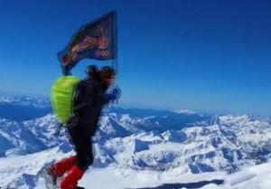 پرچم امام حسین (ع) در بلندترین رشته کوه قفقاز