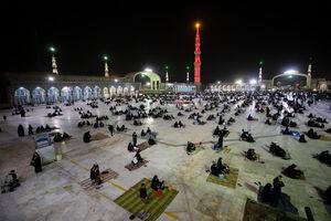 عکس/ مسجد جمکران مملو از عزاداران حسینی