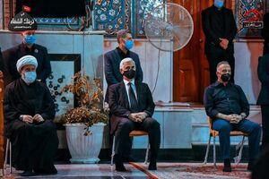 عکس/ حضور نخست وزیر عراق در حرم کاظمین