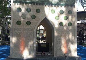 رونمایی از مقبره شهید گمنام در روز ملی کشتی + عکس