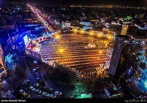 تصاویر هوایی از نظم هیئتیها در میدان امام حسین(ع)