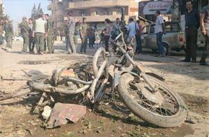 انفجار موتورسیکلت بمبگذاری شده در سوریه