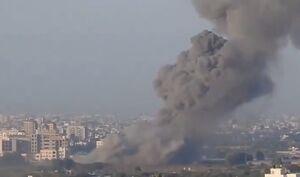فیلم/ حمله هوایی صهیونیستها به نوار غزه