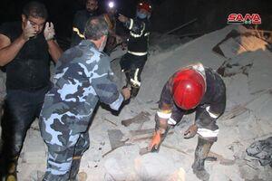 عکس/ ریزش ساختمان ۴ طبقه در شهر حلب سوریه