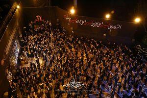 عکس/ نمایی جالب از مسجد امام اصفهان در محرم