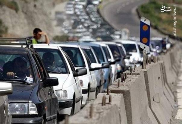 وضعیت ترافیک در اتوبان تهران به قم پرحجم و نیمه سنگین است