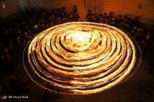 آیین مشعل گردانی نجفیهای مقیم قم