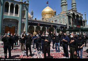 عکس/ عزاداری تاسوعای حسینی در حرم حضرت معصومه(س)