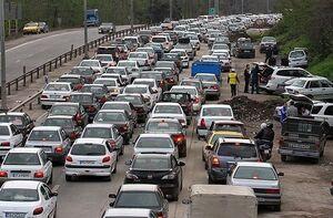 ترافیک سنگین در محورهای شرقی تهران