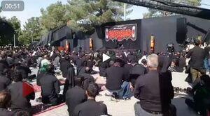 فیلم/مراسم عزاداری تاسوعای حسینی در بهشت زهرا تهران