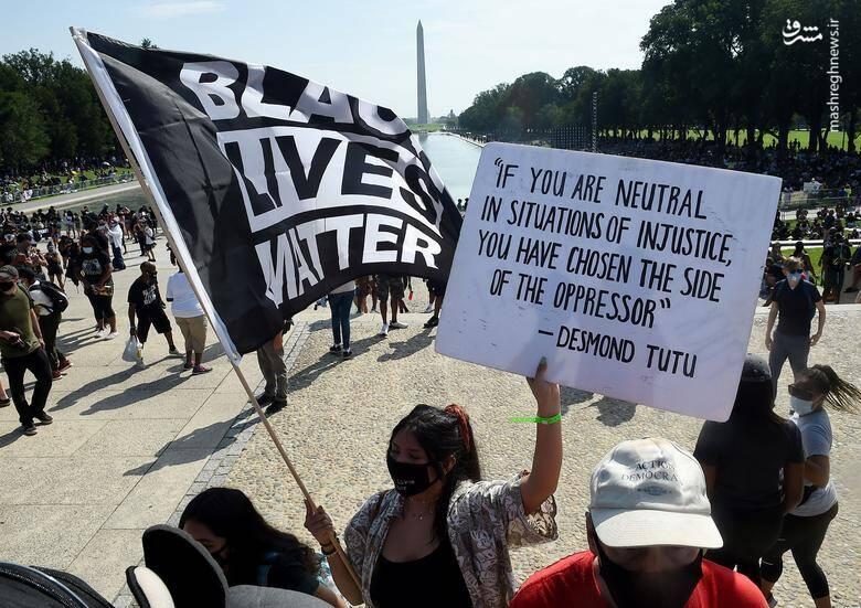 تظاهرات ضدنژادپرستی در پایتخت آمریکا /عکس: رویترز