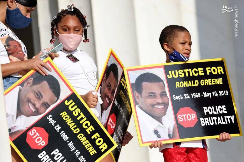 """خانواده """"رونالد گرین"""" مرد سیاه پوست آمریکایی که در سال 2019 پس از تعیقب و گریز پلیس آمریکا اشتباها کشته شد/عکس: رویترز"""