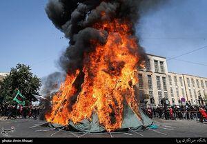 خیمه سوزان ظهر عاشورا در تهران