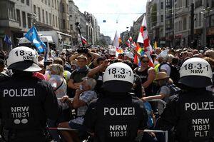 افزایش تعداد بازداشتیها در تظاهرات آلمان