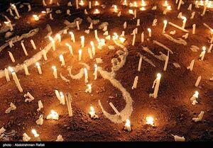 عکس/مراسم شام غریبان حسینی در گلستان شهدای اصفهان