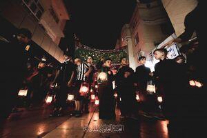 عکس/ حال و هوای شام غریبان حسینی در نجف
