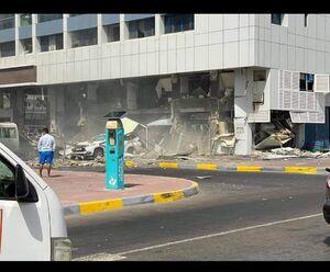 فیلم/ لحظه انفجار رستوران آمریکایی در ابوظبی