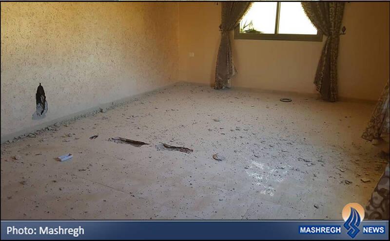 محل توقف گلوله عمل نکرده در اتاق مجاور