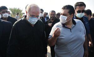 بازدید شبانه رئیس مجلس از مسجدسلیمان+فیلم