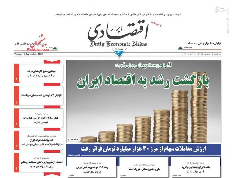 ابرار اقتصادی: بازگشت رشد به اقتصاد ایران