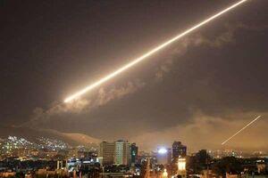 مقابله پدافند سوریه با حمله اسرائیل به فرودگاه «تیفور»