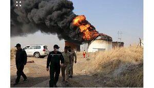 عکس/ آتشسوزی در مخرن نفت پالایشگاه نینوا