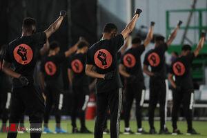 عکس/ ورزشکاران علیه ضد نژادپرستی به میدان آمدند