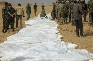 کشف ۲ گور جمعی حاوی اجساد سربازان سوری قربانی داعش