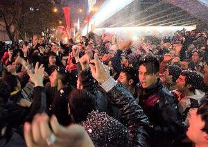 شادی هواداران تراکتور بعداز قهرمانی در جام حذفی +فیلم