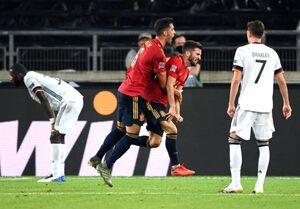 آلمان در دقیقه ۹۶ برد مقابل اسپانیا را از دست داد