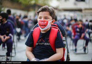 عکس/ ماسک دانش آموزان فوتبالی