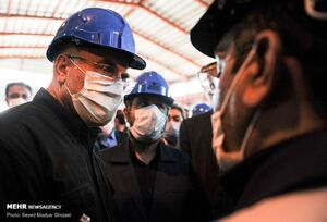 بازدید قالیباف از شرکت لوله سازی اهواز