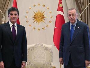اردوغان و بارزانی