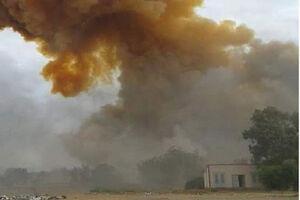 انفجار یک انبار سلاح متعلق به گروه تروریستی ترکیه در سوریه