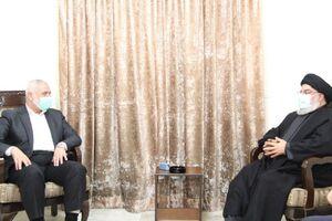 دیدار «اسماعیل هنیه» با «سید حسن نصرالله»