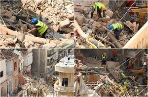 عکس/ جستوجو برای یافتن انسان از زیر آوار بیروت