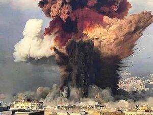 عکس باکیفیت از لحظه انفجار بیروت - کراپشده