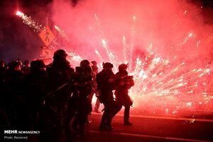 عکس/ بازداشت معترضان در صدمین روز تظاهرات پورتلند آمریکا