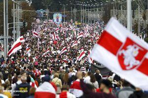 عکس/ ادامه راهپیمایی مخالفان دولت در بلاروس