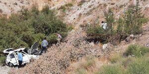 عکس/ سقوط تیبا به دره در محور رودهن دماوند