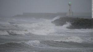 """عکس/ طوفان """"هایشن"""" در کره جنوبی"""